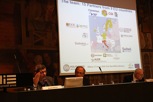 Public conference in ANCE-Association of Builders in Milan