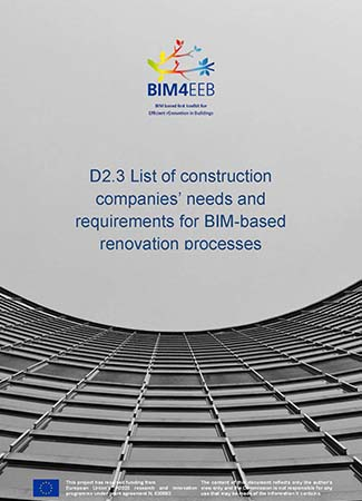 List of construction companies' needs and requirements for BIM-based renovation processes