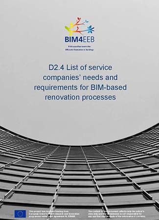 List of service companies' needs and requirements for BIM-based renovation processes